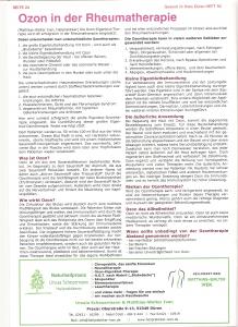 Ozon in der Rheumatherapie 001